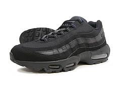 """Кроссовки мужские  Nike Air Max 95 """"Triple Black"""" черные топ реплика"""