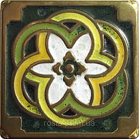 Декоративная плитка. Бронза покрытая эмалью. Kaleidoscope (7,5x7,5)