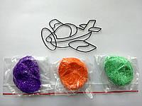 Набор Самолетик (шариковый пластилин + витраж)