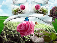 Евро комплект постельного белья Роза