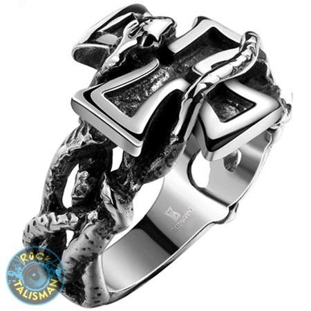 Перстень APST-25 Крест Со Змеей