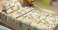 Качественное детское постельное бельё 100х150см DOGI БЕЖЕВЫЙ LT14