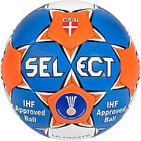 Мяч для гандбола SELECT ULTIMATE REPLICA-1 Club training (HPU 1000, р-р №1,№2,№3 синий-белый)