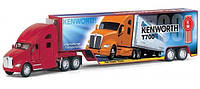 Машина метал. 1302W Kinsmart Kenworth T700 With Container