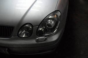 Установка биксеноновых линз G5 с ребристыми масками с глазами на Lexus GS300 7