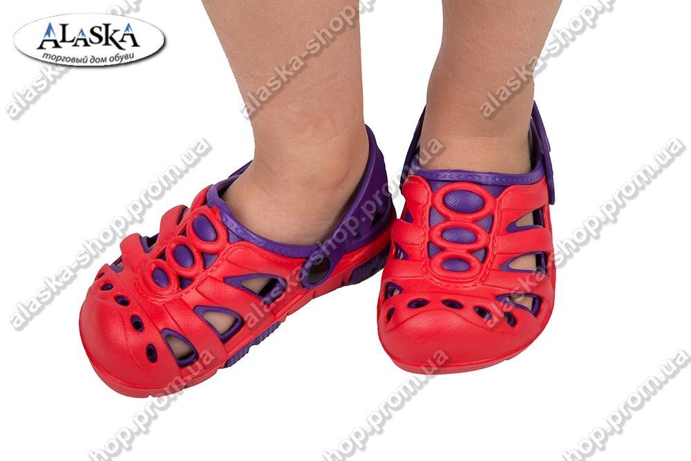 Детские сабо красно-фиолетовые (Код: Дет сабо)