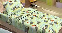 Качественное детское постельное бельё 100х150см FILI ЗЕЛЕНЫЙ LT14