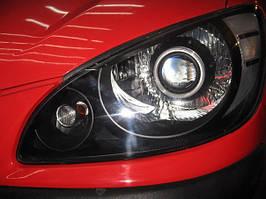 Установка биксеноновых линз G5 с глазами на Hyundai Getz 2