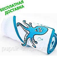 Полотенце с уголком детское с 3D рисунком Sensillo + БЕСПЛАТНАЯ ДОСТАВКА