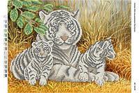 """Схема для частичной вышивки бисером """"Тигриная семья"""""""