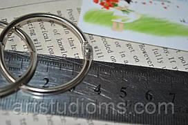Кольца для скрапбукинга. Диамерт 3,2см. Серебро