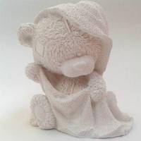 Гипсовая фигурка для декора Мишка в полотенце