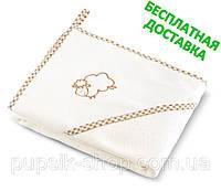 Полотенце с уголком детское Sensillo Sheep  80*80 см + БЕСПЛАТНАЯ ДОСТАВКА