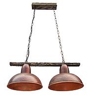 Светильник подвесной Gryb-Light, LOFT Debut P0104-2, керамика, дерево.