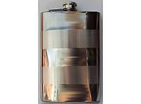 Фляга стальная для алкоголя F1-4, фляжка карманная 270 мл