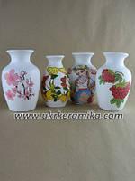 Маленькие вазочки из керамики недорого. Украинский мотив.