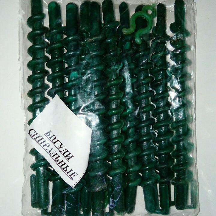 Бигуди спиральные с пластмассовым зажимом (110 мм/8 мм)