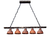 Светильник подвесной Gryb-Light, LOFT Nice P0224-5, керамика, дерево.