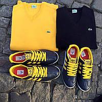 Кофта бренд хлопок желтая,черная