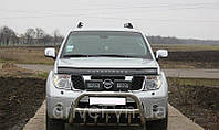 Дефлектор капота (мухобойка) Nissan Pathfinder (R51) 2004-2010, на крепежах