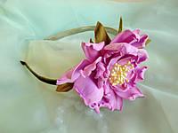 Ободок с сиреневым цветком