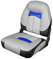 Сидіння Premium High Back Сірий/Вугілля/Синій