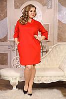 Женское Платье Креш (2  цвета)   (48-88)