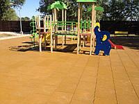 Травмобезопасная резиновая плитка для детских площадок, фото 1