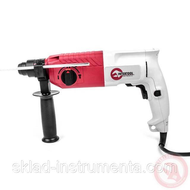Перфоратор SDS-plus 650 Вт, 0-870 об/мин, 0-4400 удар/мин, 3 режима, реверс
