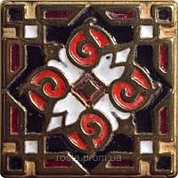Декоративная плитка. Бронза покрытая эмалью. Orient (5x5)