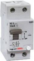 Пристрій захисту відключення ПЗВ LR 2P 63A 30мА Legrand
