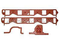 Комплект прокладок под впускной коллектор (паук)ГАЗ-53 (красный)