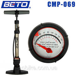 Насос напольный алюминиевый велосипедный Beto CMP-069