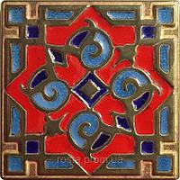 Декоративная плитка. Бронза покрытая эмалью. Orient (7,5x7,5)
