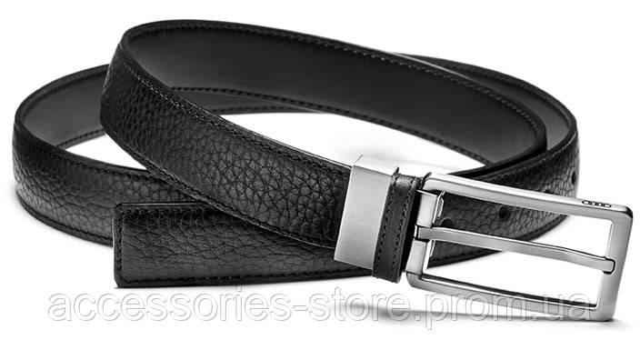 Узкий кожаный ремень Audi Leather Belt Narrow, Black