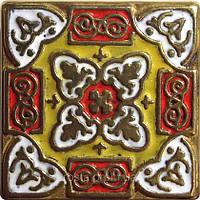 Декоративная плитка. Латунь покрытая эмалью. Persia (5x5)