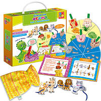 Игра с прищепками для малышей «Больше чем Ферма» VT2801-12 VladiToys (рус)