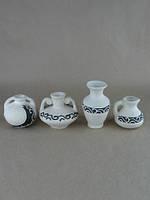 Купить маленькую вазочку из глины недорого в греческом стиле