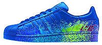 Мужские кроссовки Adidas Originals Superstar Pride Pack Blue (Адидас Суперстар) синие