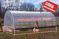 Теплица Радуга 3х6х2м с поликарбонатом 4 мм