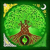 """Схема-заготовка для вышивки подушки """"Дерево жизни"""""""