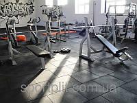 Резиновая плитка для спортивного зала
