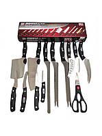 Набор кухонных ножей Mibacle Blade, 13 предметов, нержавеющая сталь, эргономичная рукоять из пластика