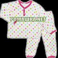 Детская плотная пижама для девочки р. 104 демисезонная ткань ИНТЕРЛОК 100% хлопок 3375 Малиновый