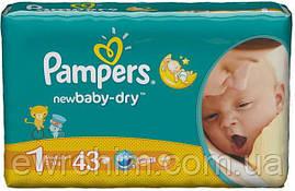 Подгузники Pampers 1 active-baby (2-5 кг), 43 шт