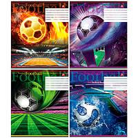 Тетрадь ученическая ТЕТРАДА 60 листов, клетка (А) картонная обложка, 81603 Футбол