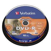 Диск Verbatim 4.7Gb -16x   (cake 10) LightScrible  DVD-R
