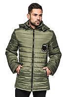 Мужская стеганная куртка весна/осень цвета хаки