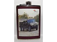 Фляга стальная для алкоголя F4-48, фляжка карманная с рисунком