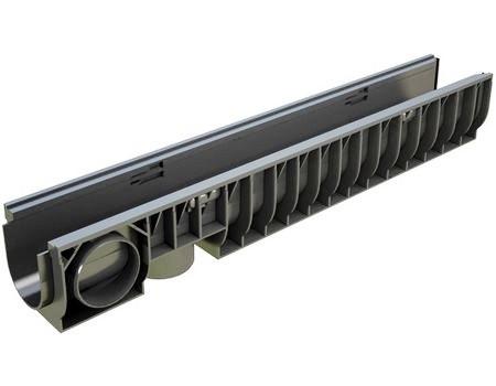 Лоток водоотводящий пластиковый PolyMax Basic ЛВ-10.16.16-ПП